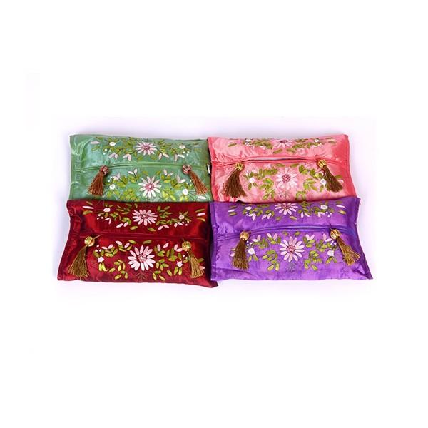 丝带绣纸巾盒炭包